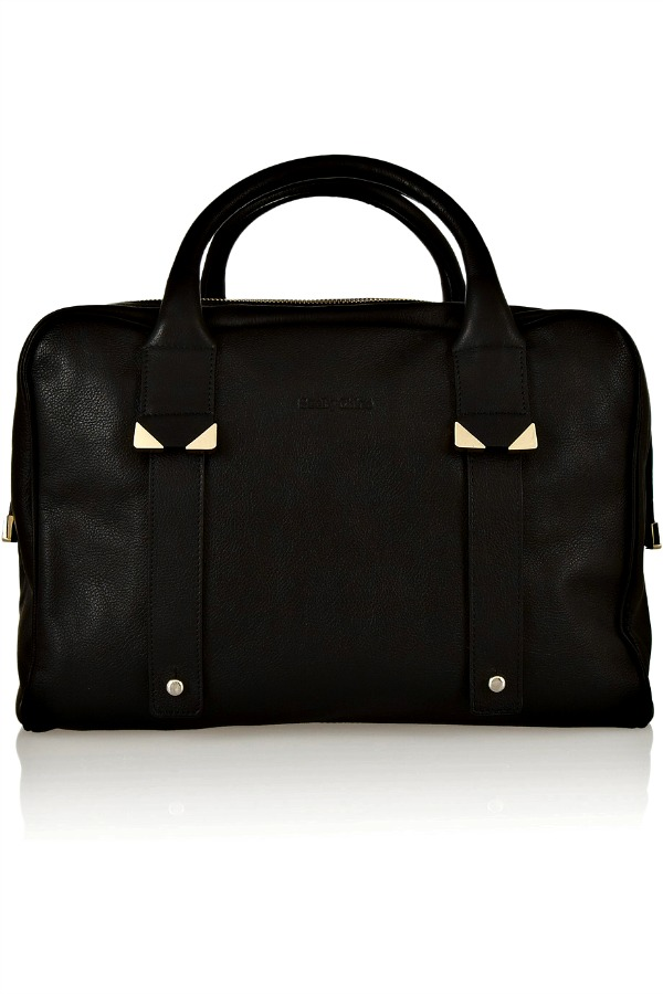 Daisie textured-leather duffle bag
