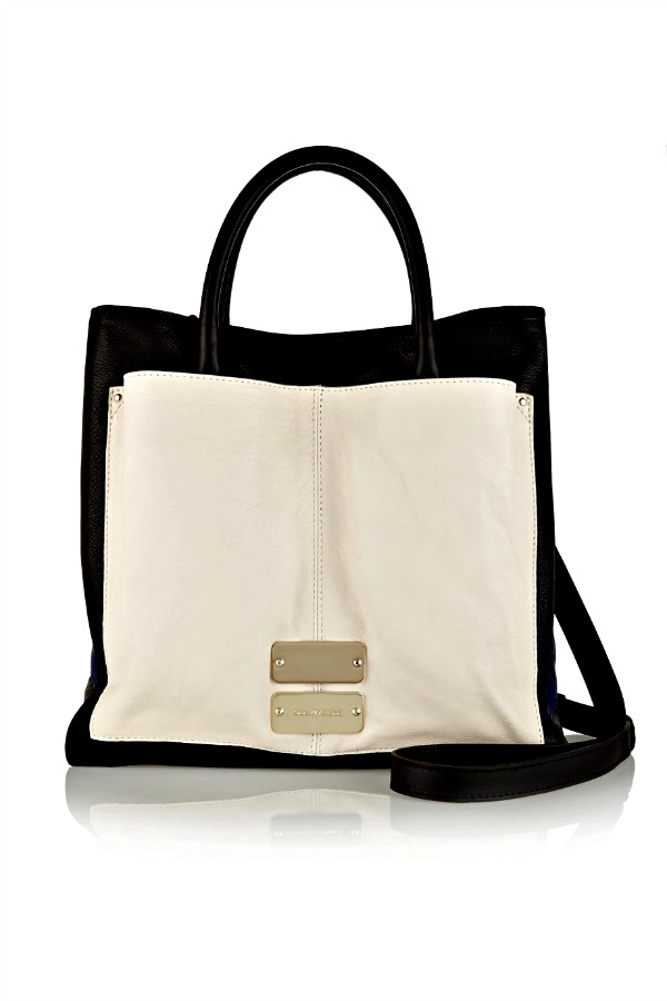 Nellie color-block leather tote