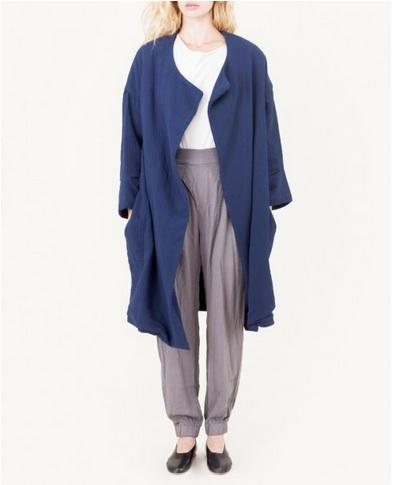 Black Crane Quilt Coat