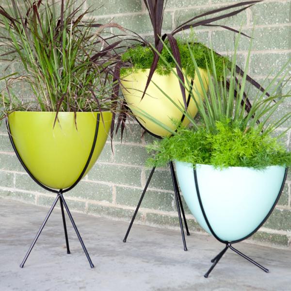 Retro Fiberglass Planters